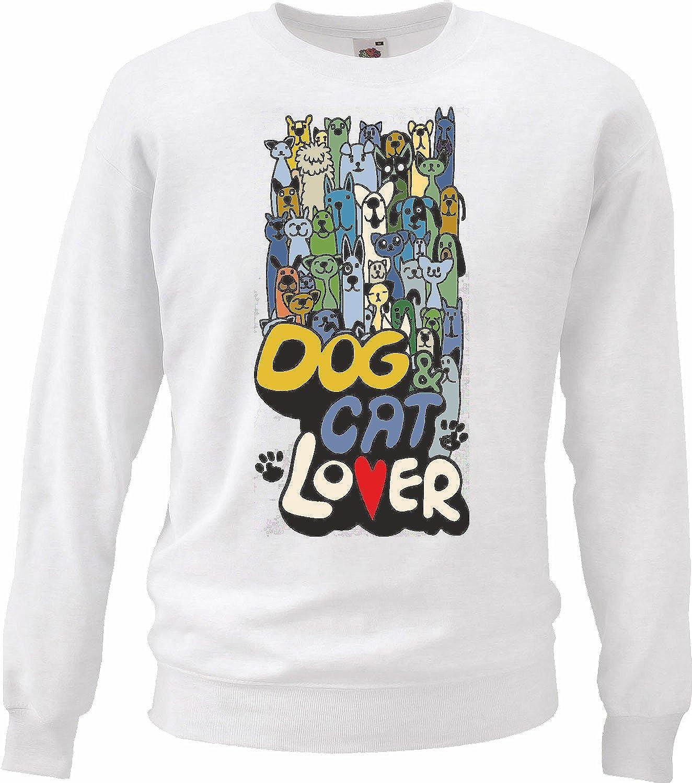 Sudaderas Suéter Los Perros y Gatos Los Amantes del Perro Cat ...