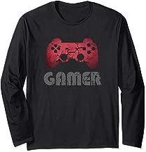 Gamer Vintage Retro Video Games Fan Gift Boys Teens Men Long Sleeve T-Shirt