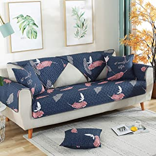 Habigua Breathable Slip-Resistant Couch Cover Armrest Backrest Protector Cushion Soft SlipCover for Sofa Loveseats