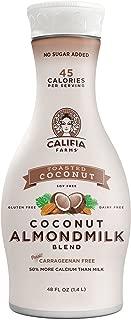 Califia Farms Toasted Coconut Almondmilk Blend, 48 Oz | Dairy Free | Plant Based | Nut Milk | Vegan | Non-GMO