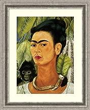 Framed Wall Art Print Self-Portrait with Monkey, 1938 by Frida Kahlo 19.00 x 23.25