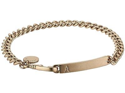 AllSaints ID Chain Bracelet (Warm Brass) Bracelet