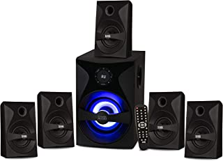 Acoustic Audio by Goldwood Bluetooth 5.1 Surround Sound System with LED Light Display, FM Tuner, USB and SD Card Inputs - ...
