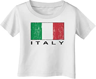 TooLoud Italian Flag - Italy Text Distressed Infant T-Shirt
