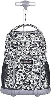 Kids Rolling Backpacks School Bag - Boys Girls Trolley Schoolbag Waterproof Primary Children Bag Removable Outdoor Travelling Nylon Student Luggage