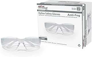 SAFE HANDLER Hyline Safety Glasses | ANTI FOG, ANTI SCRATCH, CLEAR Impact Resistant, Unbreakable Polycarbonate Lens, 99% U...