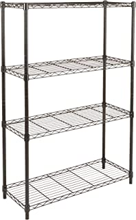 Amazon Basics 4-Shelf Adjustable, Heavy Duty Storage Shelving Unit (350 lbs loading capacity per shelf), Steel Organizer W...