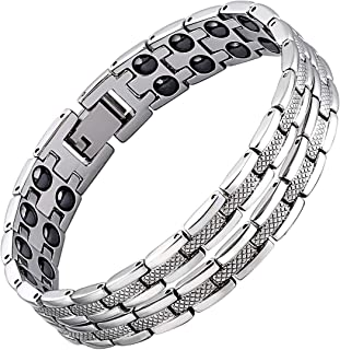 iZion Magnetic Therapy Bracelet Pain Relief for Arthritis Stainless Steel Health Wristband Gift for Men Women with Free Link Removal Tool