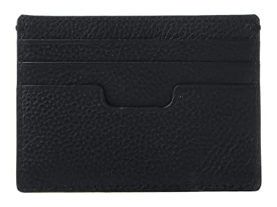 Cole Haan Pebble Leather Card Case (Black) Credit card Wallet