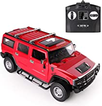 Hummer H2 DTI Direct, Licensed RC car with 2.4GHz (Red), Size 1:14