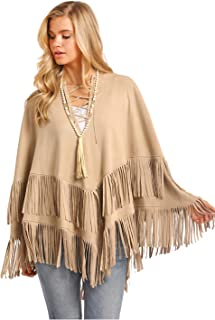 Powder River Outfitters Micro Suede Lace Up Poncho