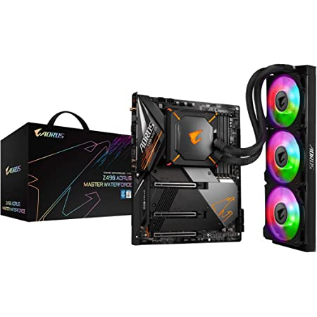 GIGABYTE Z490 AORUS Master WF (Intel LGA 1200/Z490/ATX/Triple M.2/SATA 6Gb/s/USB 3.2 Gen 2/ WiFi 6/2.5 GbE LAN/CPU/VRM Liquid Cooler 360/Gaming Motherboard)