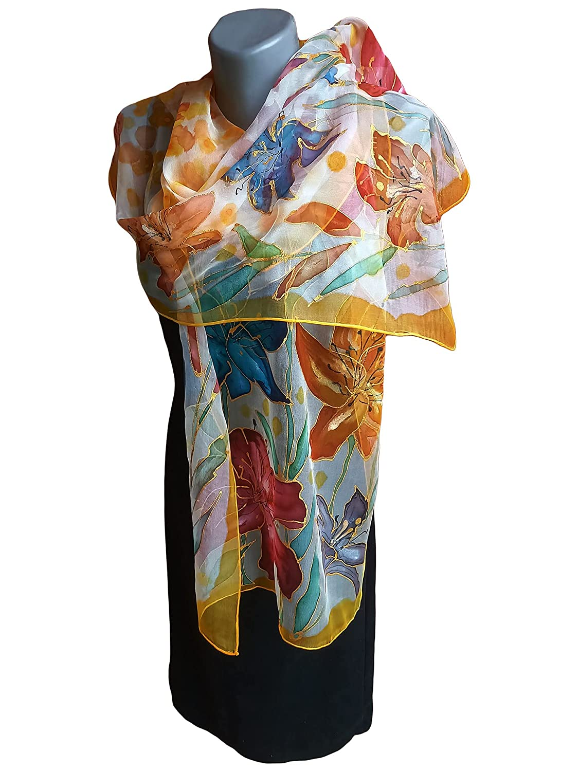 FLOWER HOUSE Hand-Painted All items in the store Silk Scarf Sil Woman Beauty products Pure