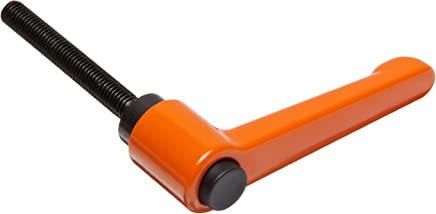 Nylon Adjustable Handle with Orange Push Button 15//32 Thread Length 1//4-20 TPI Thread 2-15//32 Length 1-49//64 Height Pack of 2 Threaded Stud