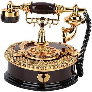 AUNMAS Bo?Te à Musique Coeur en Forme de téléphone Cas de Bijoux en Plastique pour la décoration Cadeau d'anniversaire(1#)
