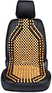Zento Deals Wood Beaded Comfort Seat Cushion Seat Cover