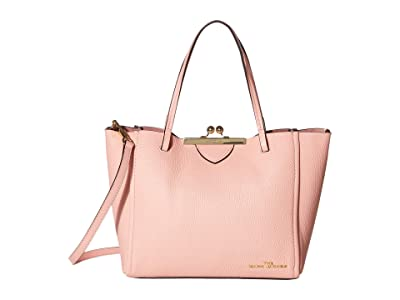 Marc Jacobs The Kisslock Mini Tote (Bloom Pink) Handbags