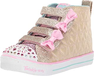 Skechers Kids' Shuffle Lite-Quilted Beauties Sneaker