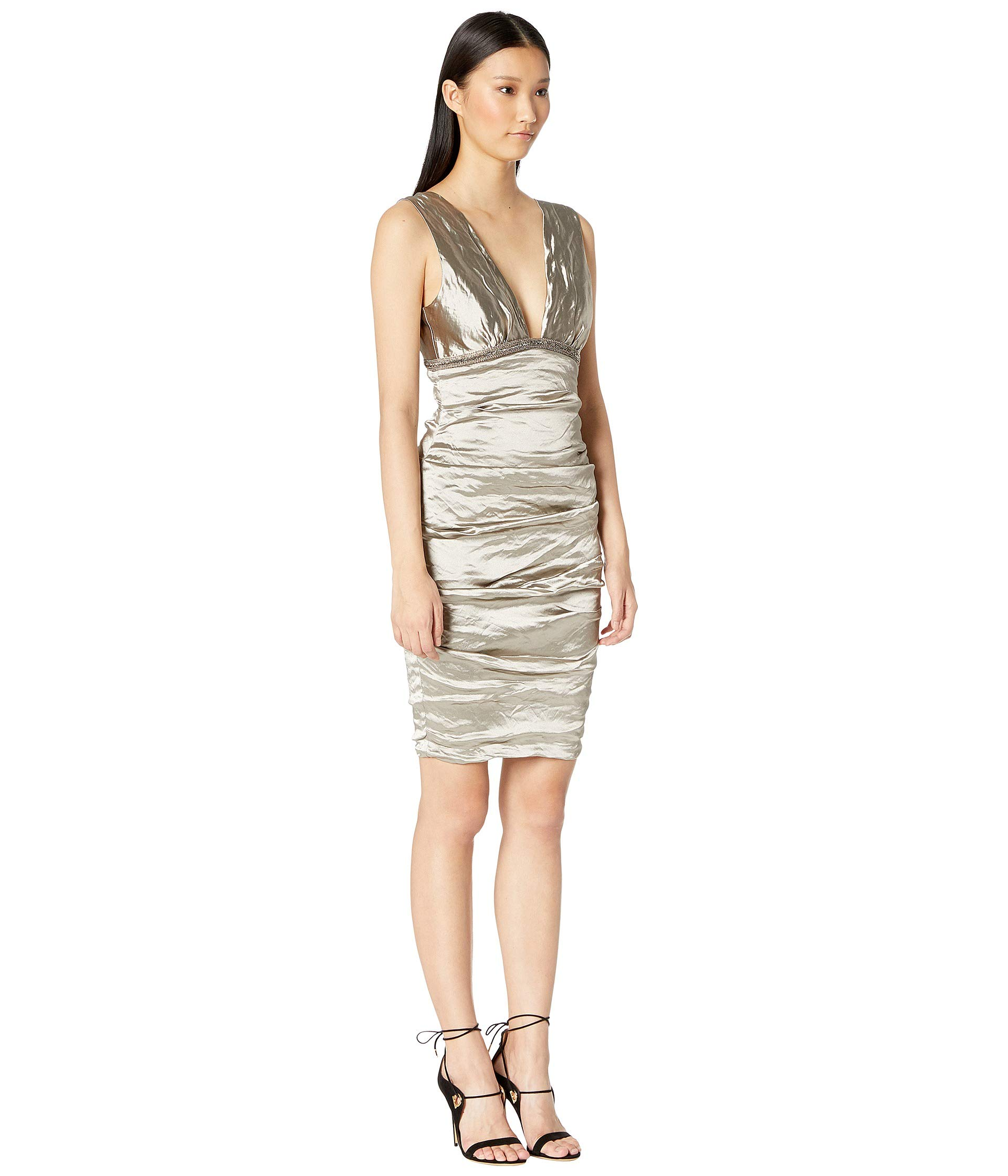 Techno Dress Cava Miller Plunge Metal Nicole 6WHq5Cn