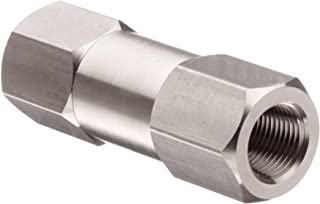 Parker C Series Stainless Steel 316 Check Valve, 1 psi Cracking Pressure, 1/4