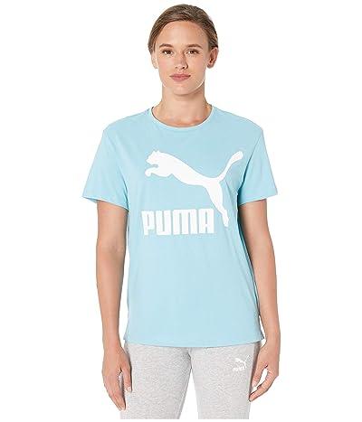 PUMA Classics Logo Tee (Milky Blue) Women