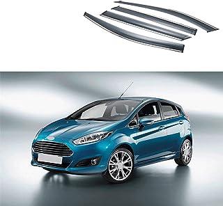 SPLLEADER for Ford Fiesta MK8 2017 2018 2019 2020 Accessoires ABS Fibre de Carbone//St Mat Couverture Cadre de Bouton de Commande Garniture de Volant de Voiture Color Name : One Pieces Silvery 1