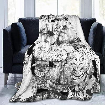 毛布 Different Purebred Cats ブランケット フランネル フリース 洗える プレミアム あったかい オールシーズン 暖かい おしゃれ 薄手 軽量 柔らかく肌触り