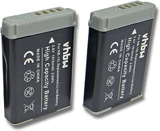 LCD 5 in1 CARICABATTERIA PER CANON PowerShot g7 X Mark II 2x Patona Batteria nb-13l
