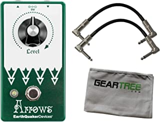 EarthQuaker Devices Arrows Pre Amp Booster Pedal w/ 2 Patch Cables and Geartree