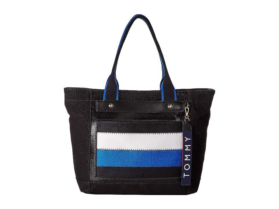 Tommy Hilfiger Classic Tommy Shopper (Black/Multi) Handbags