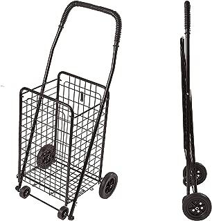 DMI Shopping Trolley, Folding Shopping Cart, Compact, Lightweight Folding Cart, Black