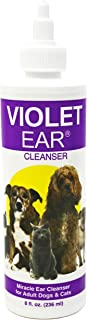 Violet Pet Ear Cleaner, 8 oz Dog Ear Infection Treatment Medicine for Yeast, Fungal and Bacteria. Relief After 1st Flush