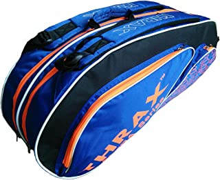 Thrax Astra Series Badminton Kit Bag Black and Blue