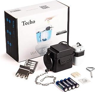 Techo Touchless Toilet Flush Kit with 8� Sensor Range, Adjustable Sensor Range and Flush Time, Automatic Motion Sensor Toilet Flush Kit Powered by Batteries