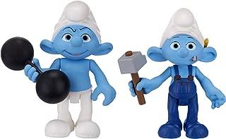 Smurfs Movie Basic Figure Pack Wave #2 Hefty Smurf and Handy Smurf