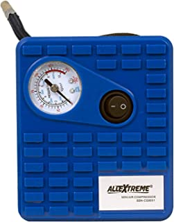 AllExtreme AE-Q8001 Heavy Duty Portable Auto Air Compressor Pump Electric Tire Inflator with Cigarette Lighter Plug and 3 ...