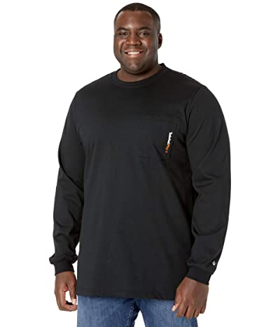 Timberland PRO FR Cotton Core Long Sleeve Pocket T-Shirt with Logo Tall