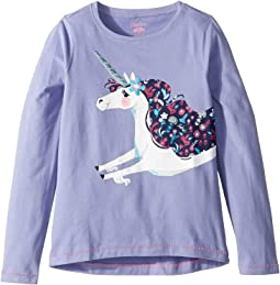 Lovely Unicorn Long Sleeve Tee (Toddler/Little Kids/Big Kids)