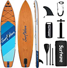 Sponsored Ad - Surfwave Inflatable Paddle Board, 11'×33'' Stand Up SUP Board W/Camera Mount, 5L Waterproof Bag, Floatable ...