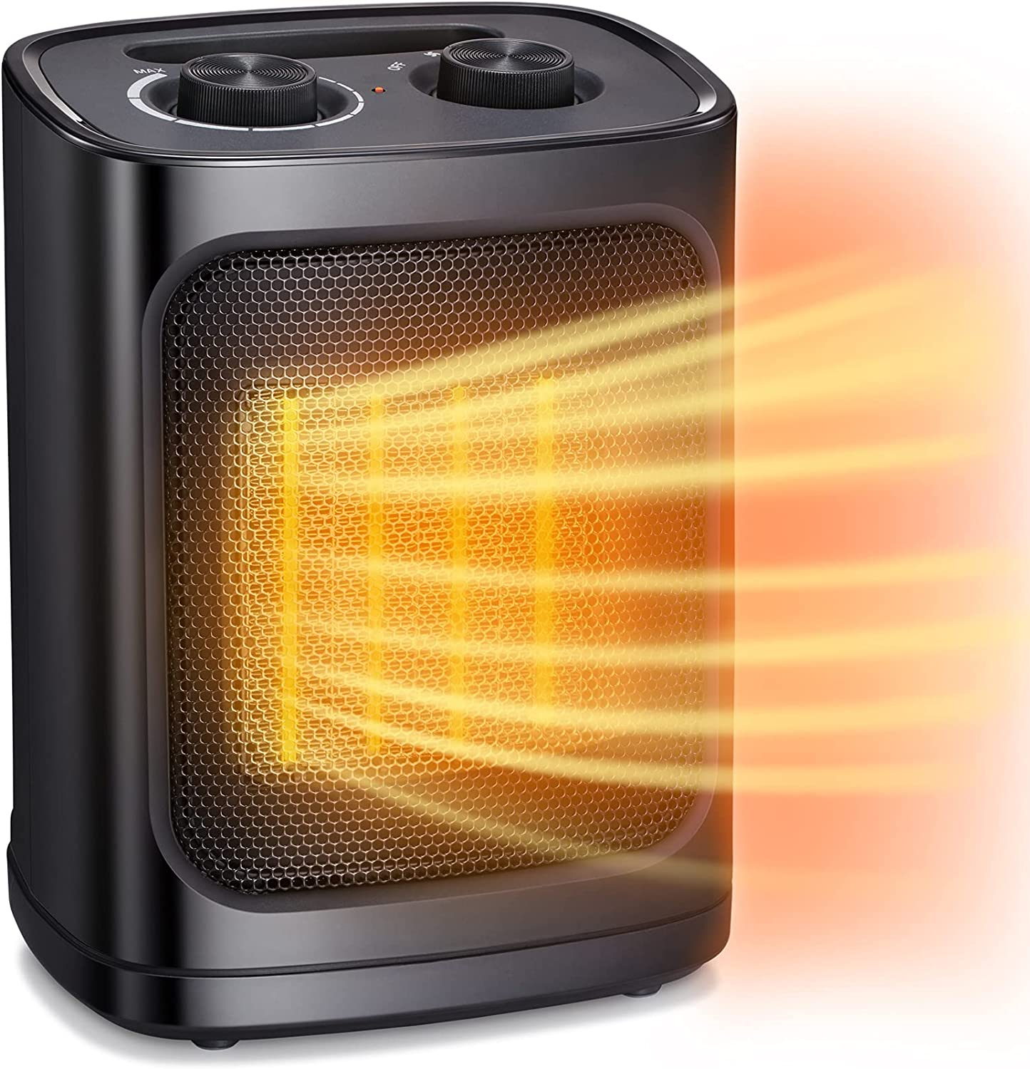 Antarctic Star Space Heater, Portable Electric Heater Ceramic Fan Small Mini Heaters Indoor Use ETL Certified 1500W/750W 3 Modes Thermostat, Tip Overheat Protection Quiet Office Room Desk Home