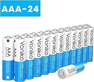VONIKO - Premium Grade AAA Batteries - 24 Pack - Alkaline Triple A Battery - Ultra Long-Lasting, Leakproof 1.5v Batteries - 10 Year Shelf Life