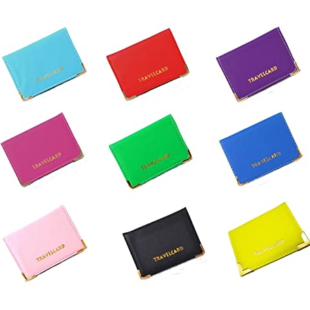 New Leather Oyster Travel Card Bus Pass Holder Wallet Rail Card Cover Case (hot pink)
