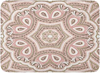 Semtomn Doormats Bath Rugs Outdoor/Indoor Door Mat Floral Mandala Nude Abstract Africa Antique Arabesque Bathroom Decor Rug Bath Mat 18