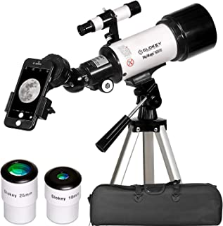 Telescopio Astronómico Portátil y Potente 16x-120x, Fácil de Montar y Usar, Ideal para Niños y Principiantes. Incluye Manual en Español, Adaptador Móvil, Funda, Trípode, 2 Oculares, Lente 3X…