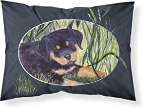 Caroline's Treasures SS8053PILLOWCASE Rottweiler Moisture Wicking Fabric Standard Pillowcase, Large, Multicolor