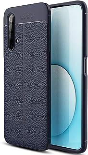 Realme X3 SuperZoom Case, Realme X3 SuperZoom Faux Leather Case, Soft Case Anti-Slip TPU Cover for Realme X3 SuperZoom