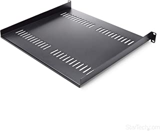 StarTech.com 1U Vented Server Rack Mount Shelf - 16in Deep Steel Universal Cantilever Tray for 19