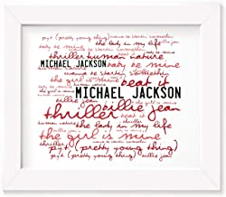 Michael Jackson Poster Print - Thriller - Letra firmada regalo arte cartel