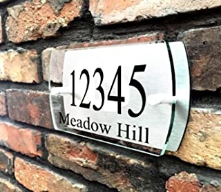 ThedisplayDeal House Number Plaque, Door Number Plate, Home Address Sign, 9.5