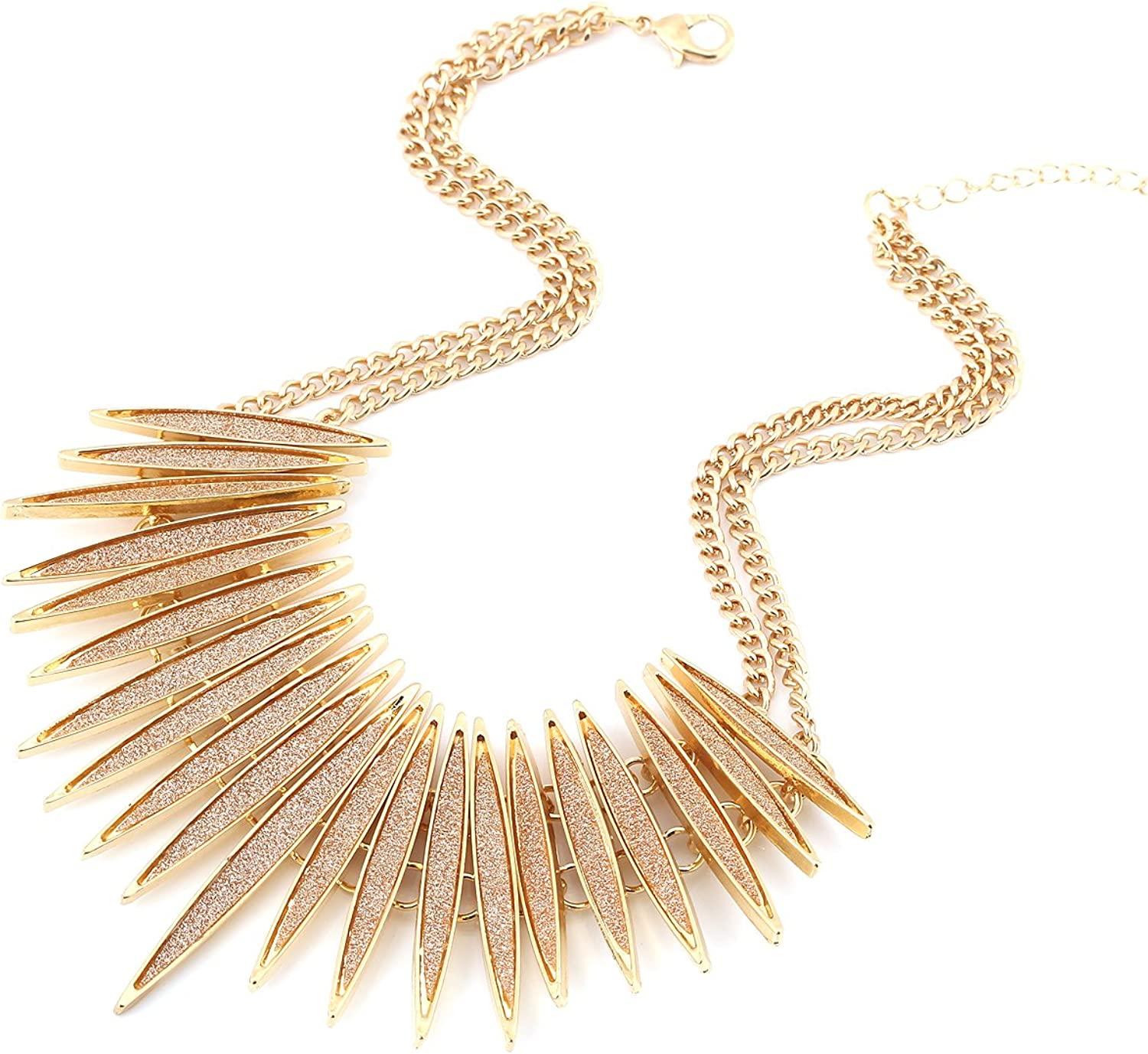 Sparkling Druzy Leaf All stores are sold Choker Necklace Gold-Tone famous Fashion Ne Collar